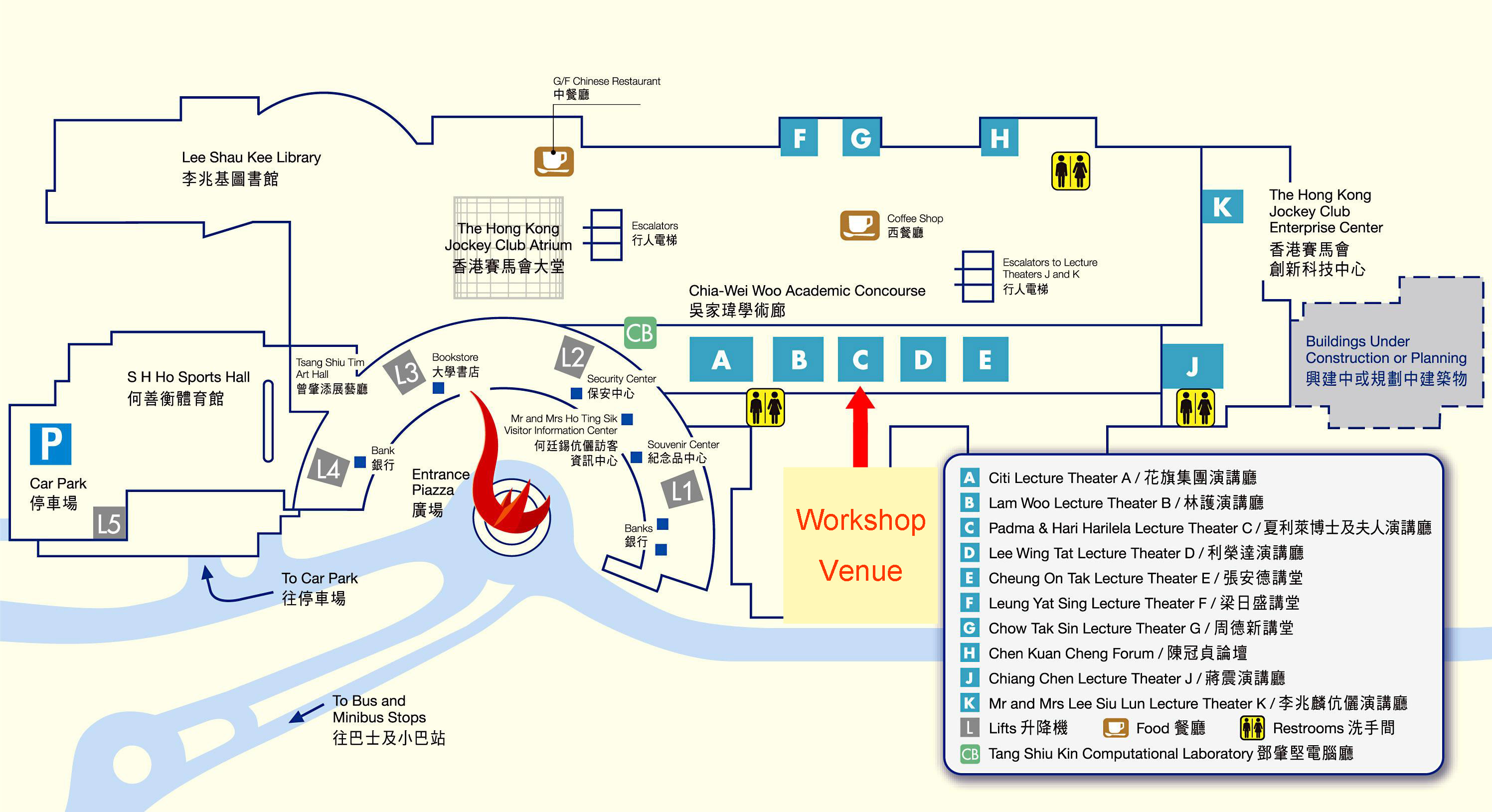 IAS Asia Pacific Workshop On Condensed Matter Physics - Location map ust